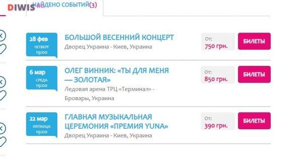 Поиск билетов на концерты по самым низким ценам — портал tickethunt.net