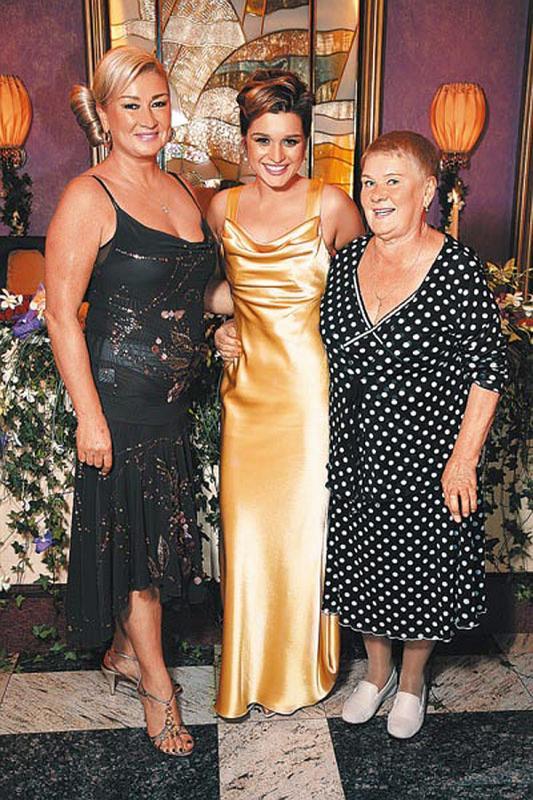Ксения Бородина с мамой и бабушкой