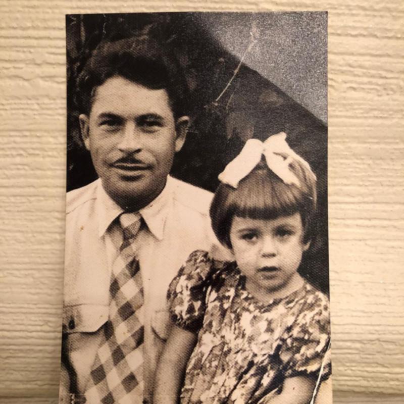 Любовь Успенская и её отец Сицкер Залман