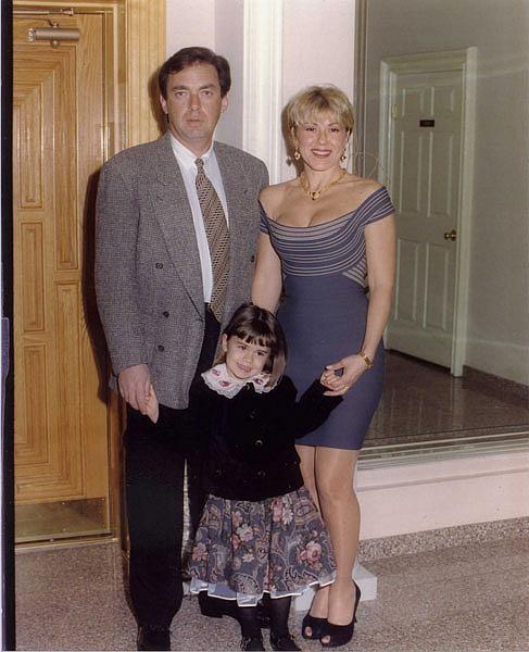 Любовь Успенская с мужем Александром Плаксиным и дочерью Татьяной