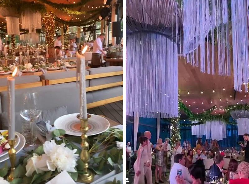 Оформление ресторана Fabius для свадьбы Насти и Потапа