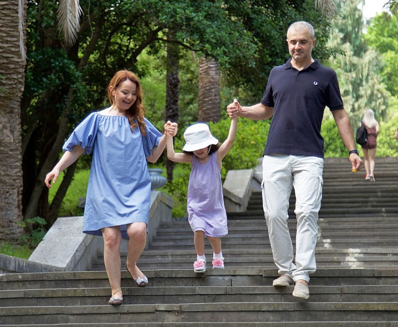 Валентина Рубцова с мужем и дочкой фото