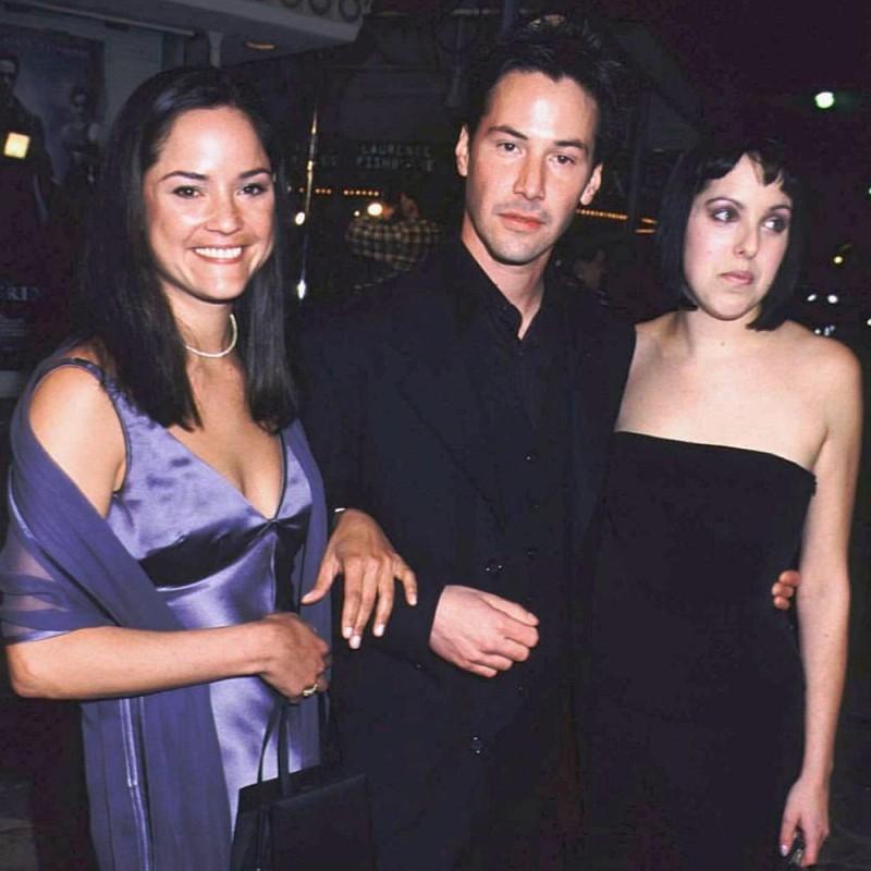Семья Киану Ривз с сестрами Ким Ривз и Кариной Миллер