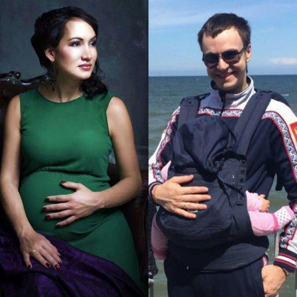 Жена Ивана Абрамова – фото с женой и дочкой